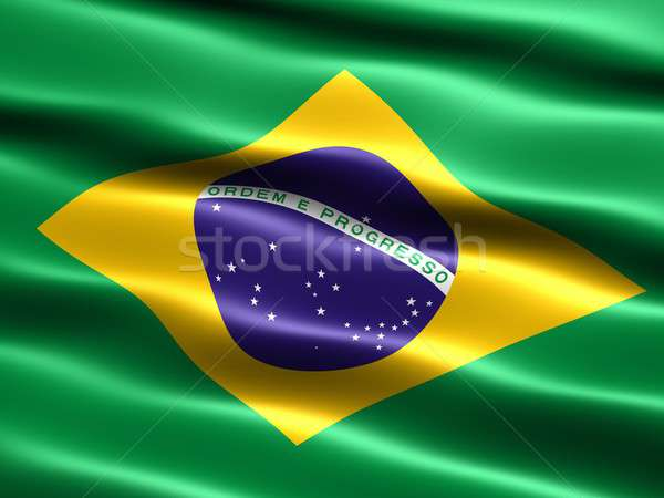 Flag of Brazil Stock photo © bestmoose