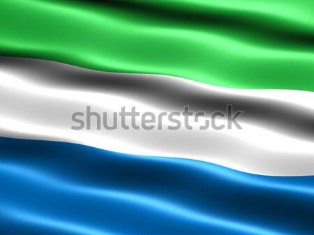 Flag of Sierra Leone Stock photo © bestmoose