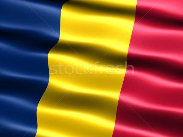 Zászló Csád számítógép generált illusztráció selymes Stock fotó © bestmoose