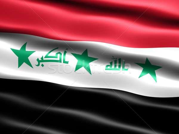 флаг Ирак 2008 компьютер генерируется иллюстрация Сток-фото © bestmoose