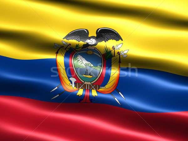 Banderą Ekwador komputera wygenerowany ilustracja jedwabisty Zdjęcia stock © bestmoose