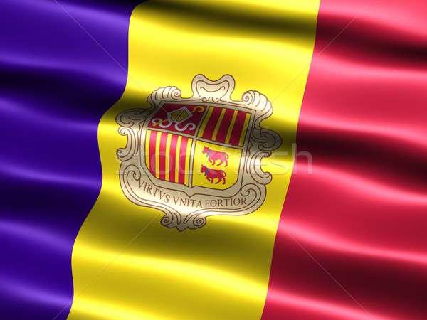 Stock photo: Flag of Andorra