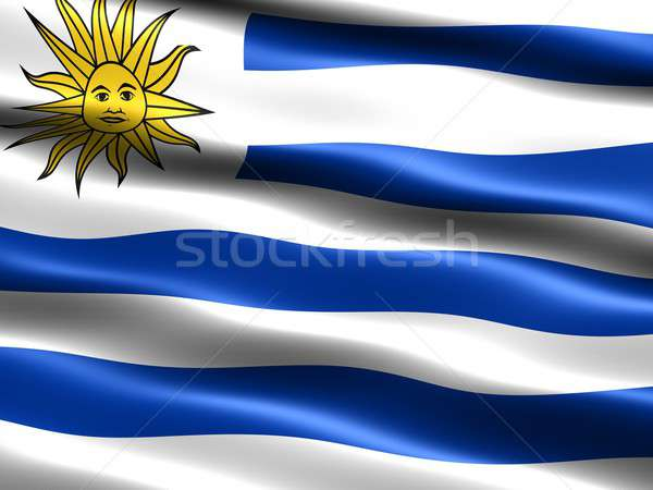 Bayrak Uruguay bilgisayar oluşturulan örnek ipeksi Stok fotoğraf © bestmoose