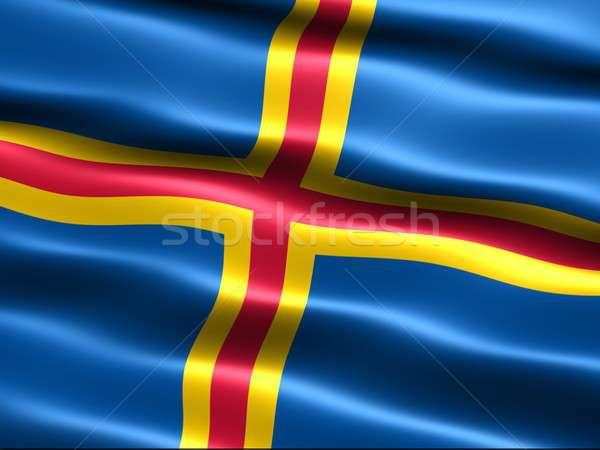 Zászló selymes megjelenés hullámok számítógép generált Stock fotó © bestmoose