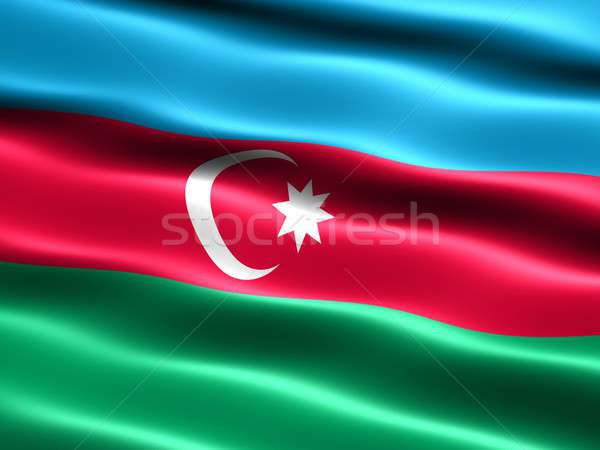 Flag of the Republic of Azerbaijan Stock photo © bestmoose