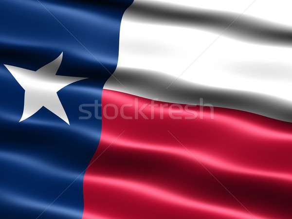 Stock photo: Flag of the state of Texas
