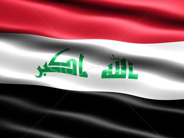 2008 vlag Irak computer gegenereerde illustratie Stockfoto © bestmoose