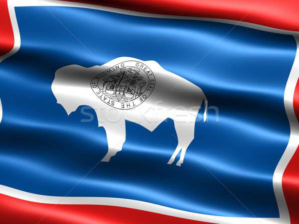 Flag of the state of Wyoming Stock photo © bestmoose