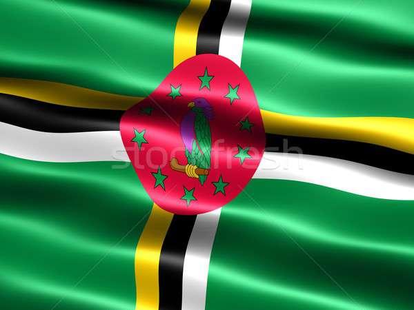 Zászló Dominika számítógép generált illusztráció selymes Stock fotó © bestmoose