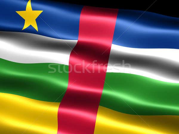 Bayrak merkezi Afrika cumhuriyet bilgisayar oluşturulan Stok fotoğraf © bestmoose