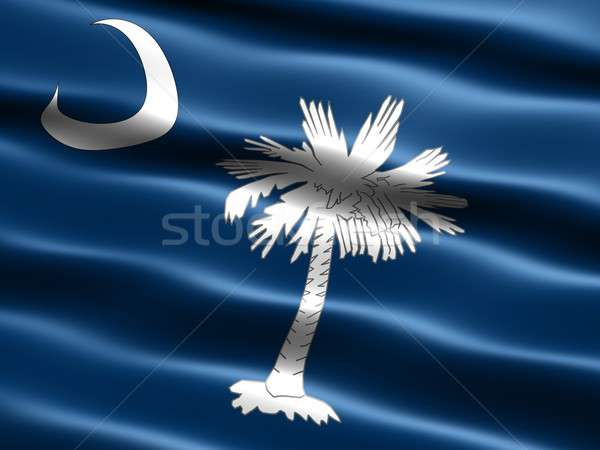 Stock photo: Flag of the state of South Carolina