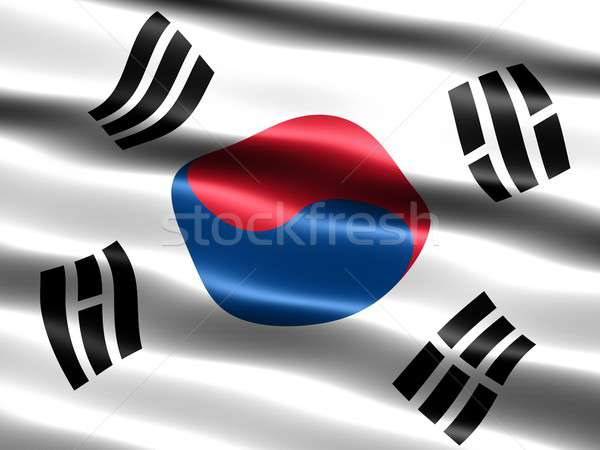 Flag of South Korea Stock photo © bestmoose