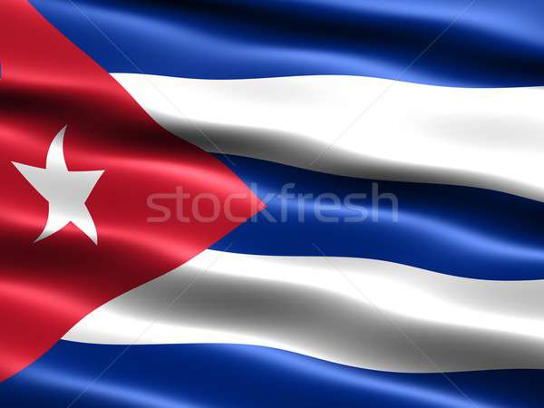 Flag of the Republic of Cuba Stock photo © bestmoose