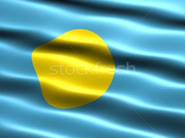 Flag of Palau Stock photo © bestmoose