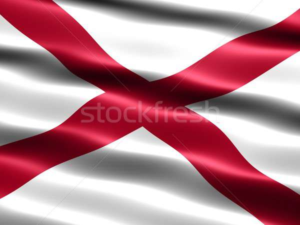 Flag of the state of Alabama Stock photo © bestmoose
