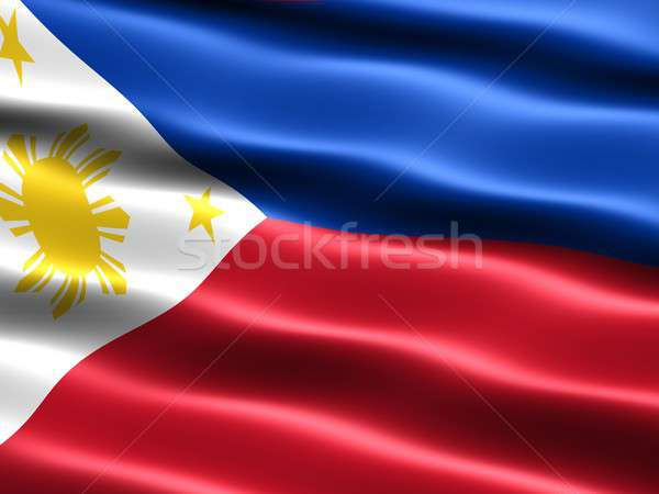 Flag of the Philippines Stock photo © bestmoose