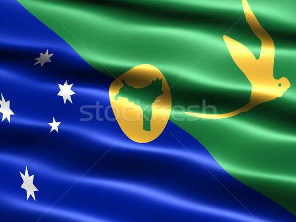 Zászló karácsony szigetek számítógép generált illusztráció Stock fotó © bestmoose