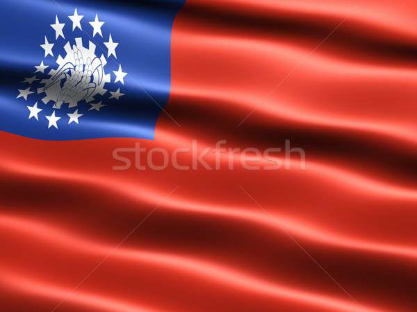 Flag of Myanmar Stock photo © bestmoose