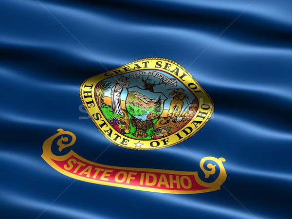 Banderą Idaho komputera wygenerowany ilustracja jedwabisty Zdjęcia stock © bestmoose