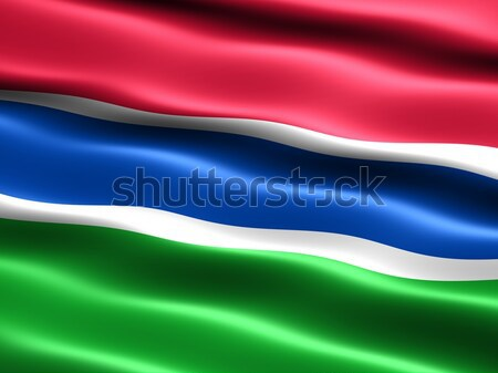 Flag of The Gambia Stock photo © bestmoose