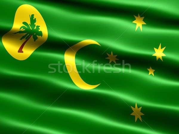 Flag of Cocos Islands Stock photo © bestmoose
