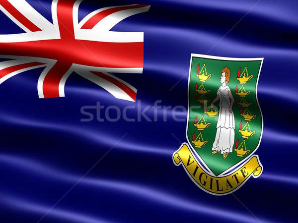 флаг британский Виргинские о-ва компьютер генерируется иллюстрация Сток-фото © bestmoose