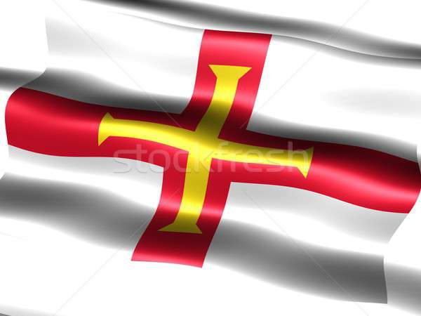 Flag of Guernsey Stock photo © bestmoose