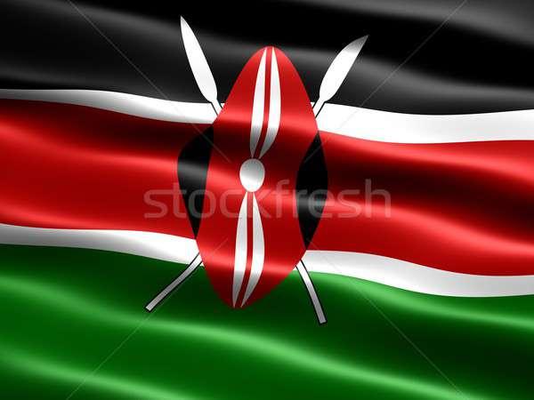 Flag of Kenya Stock photo © bestmoose