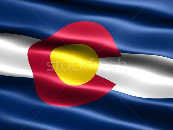 Flag of the state of Colorado Stock photo © bestmoose