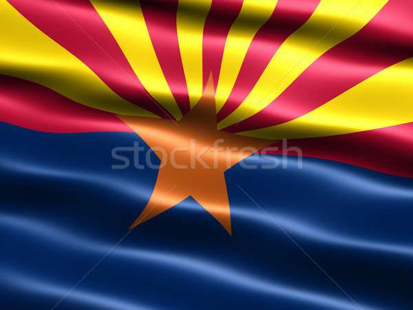 Flag of the state of Arizona Stock photo © bestmoose