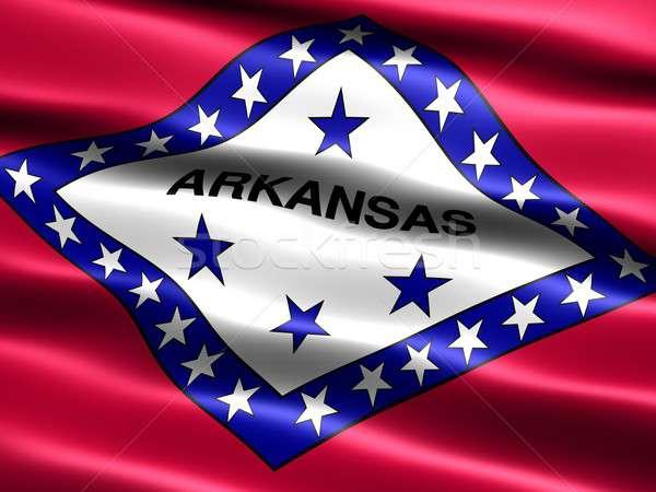 Zászló Arkansas számítógép generált illusztráció selymes Stock fotó © bestmoose