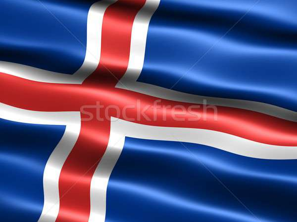 Flag of Iceland Stock photo © bestmoose
