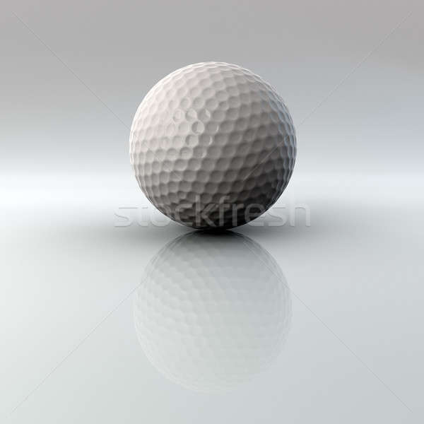 Golf ball with reflection and alpha Stock photo © bestmoose