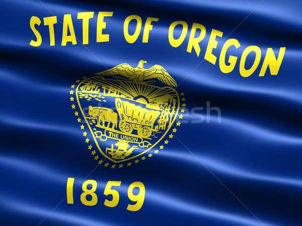 Banderą Oregon komputera wygenerowany ilustracja jedwabisty Zdjęcia stock © bestmoose