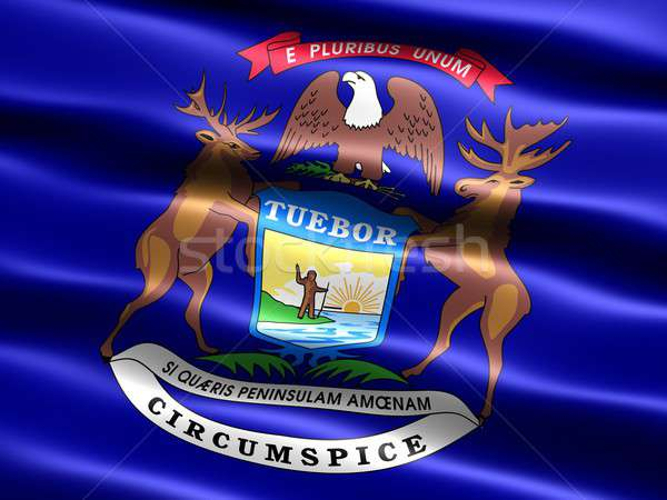 Flag of the state of Michigan Stock photo © bestmoose