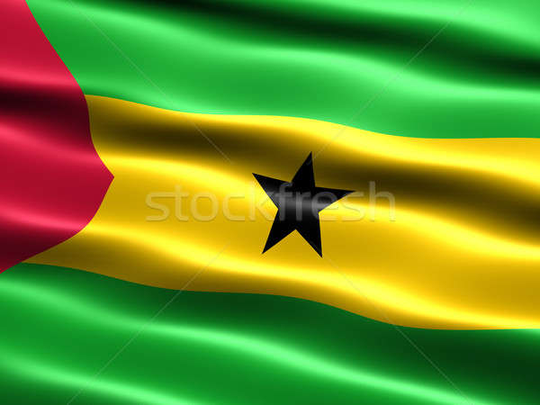 Flag of Sao Tome and Principe Stock photo © bestmoose