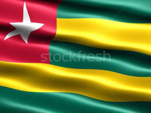 Banderą Togo komputera wygenerowany ilustracja jedwabisty Zdjęcia stock © bestmoose
