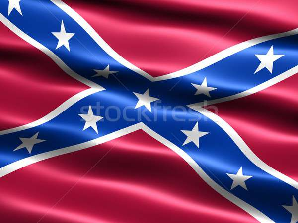 Second Confederate Navy Jack, 1863 to 1865 Stock photo © bestmoose