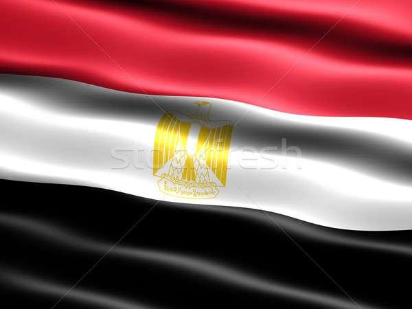 Banderą Egipt komputera wygenerowany ilustracja jedwabisty Zdjęcia stock © bestmoose
