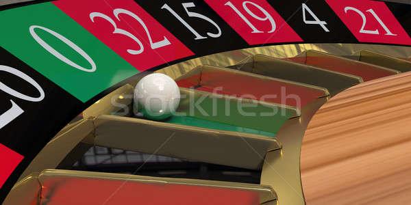 Rueda de la ruleta primer plano hacer pelota oro juego Foto stock © bestmoose