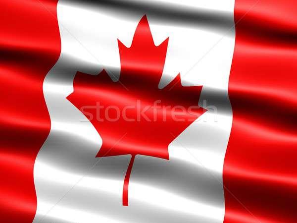 Banderą Kanada komputera wygenerowany ilustracja jedwabisty Zdjęcia stock © bestmoose