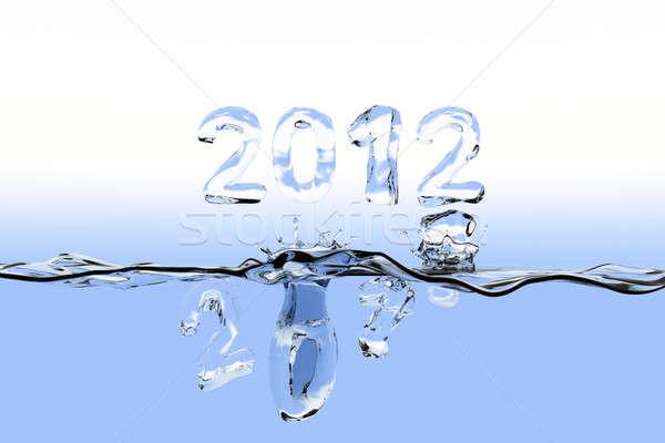 Année Splash 2011 nombre Photo stock © bestmoose