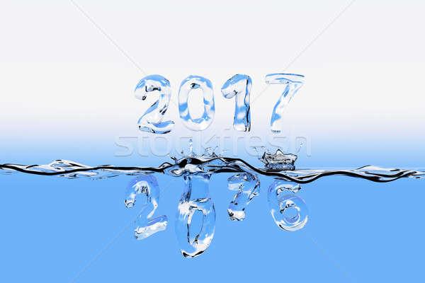 Ano 2016 salpico números Foto stock © bestmoose
