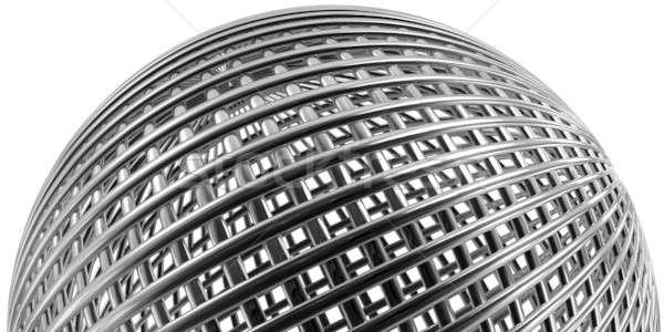 Metaliczny sferze odizolowany biały Zdjęcia stock © bestmoose