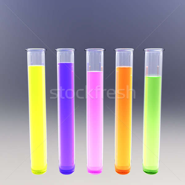 Fluorescent test tubes Stock photo © bestmoose