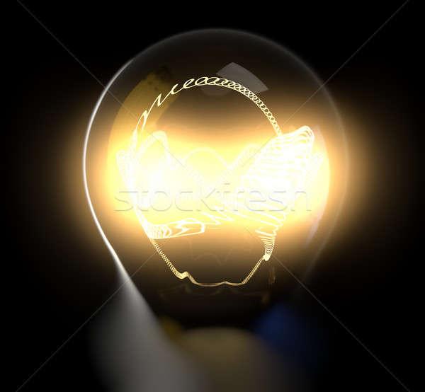 Glowing light bulb body Stock photo © bestmoose