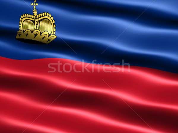 Flag of Liechtenstein Stock photo © bestmoose