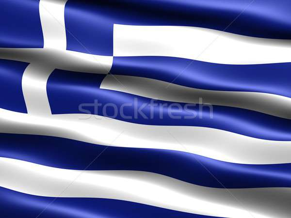 Flag of Greece Stock photo © bestmoose