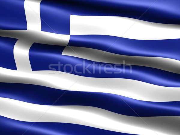 Bandeira Grécia computador gerado ilustração sedoso Foto stock © bestmoose