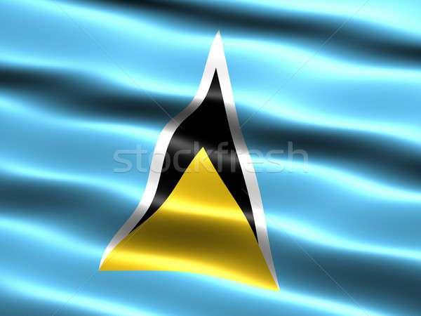 флаг святой компьютер генерируется иллюстрация шелковистый Сток-фото © bestmoose